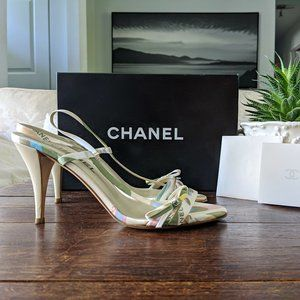 🔥SALE🔥CHANEL CC Satin Sandals - Spring 2005